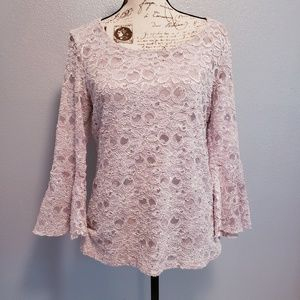 Cato bell sleeve embellished top.